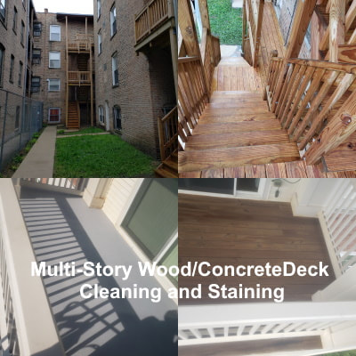 Multi-Story Deck Cleaning and Staining