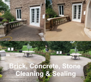 Brick, Concrete, Stone Cleaning & Sealing