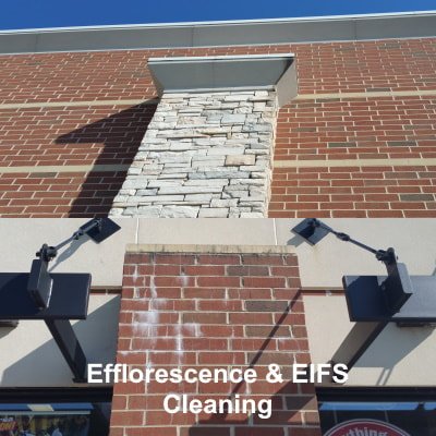 efflorescence and EIFS cleaning