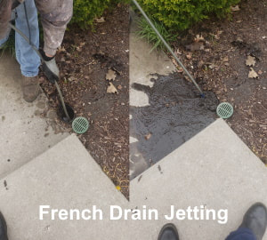 french drain jetting