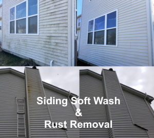 siding soft wash & rust removal